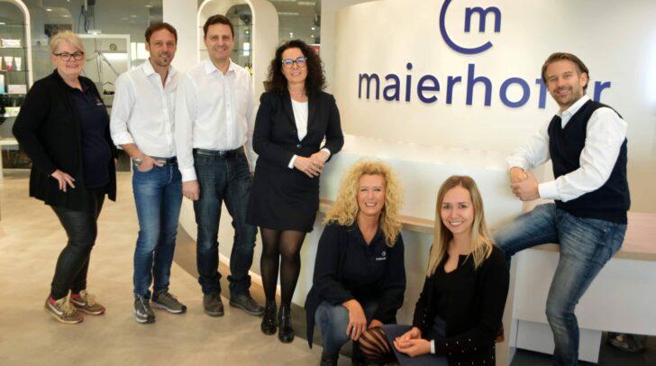 Das maierhofer Team freut sich über die neue Filiale Klagenfurt Nord.