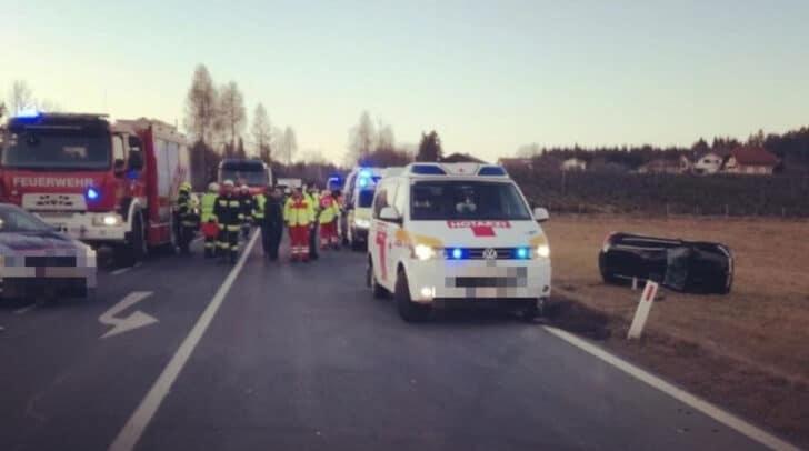 Auf der Turracher Straße ist es am Nachmittag zu einem schweren Verkehrsunfall gekommen.