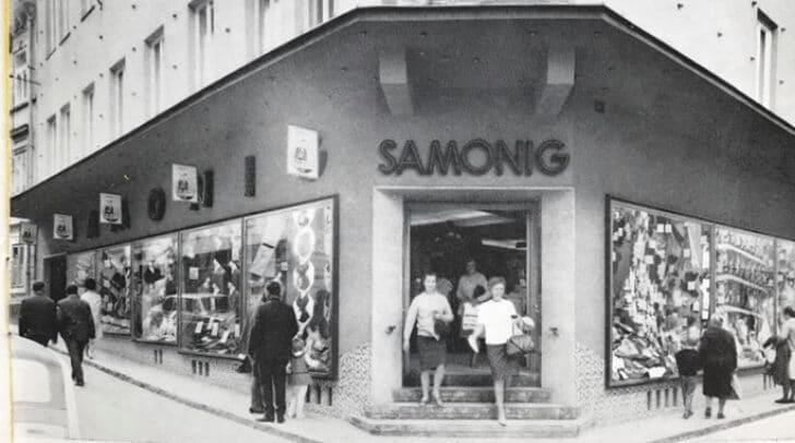Eine Werbung für das Kaufhaus Samonig aus dem Jahr 1968.