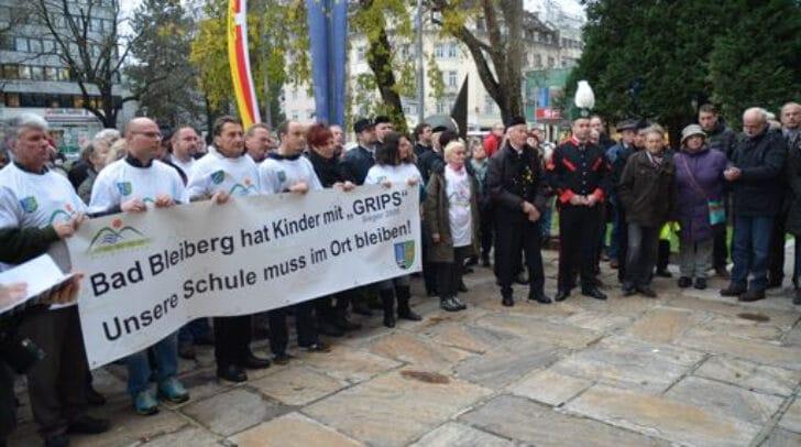 Durch zahlreiche Aktionen wurde versucht, gegen die Schließung der MNS Bad Bleiberg vorzugehen.
