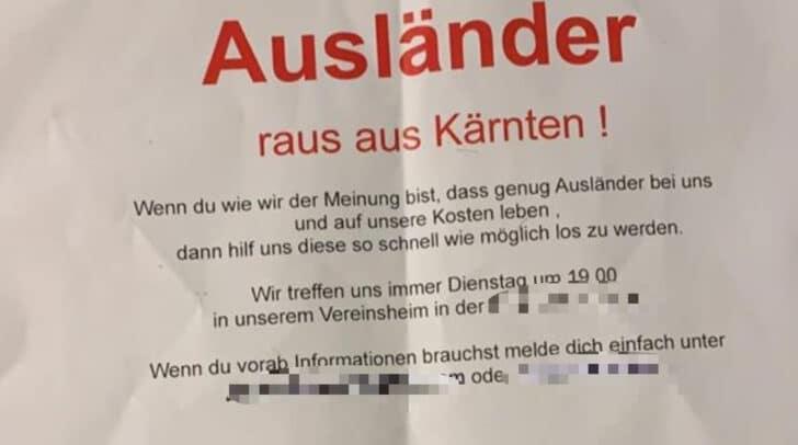 Dieser Flyer kursiert in Klagenfurt.