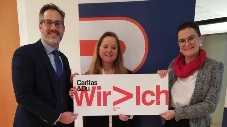 Robert Suppan und Susanne Laggner-Primosch von der Rechtsanwaltskammer Kärnten gemeinsam mit Roberta Striedinger (Caritas Kärnten)