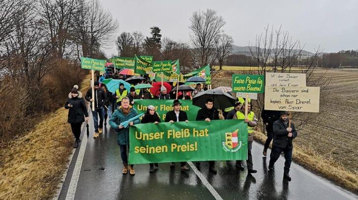 Der Prostest der heimischen Bauern im Feber 2020, dürfte Wirkung gezeigt haben.