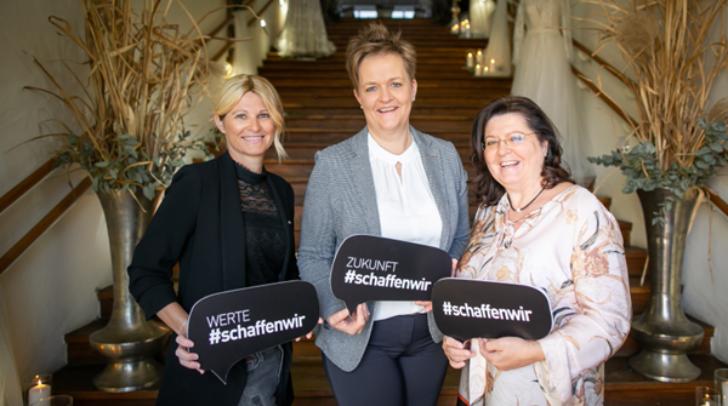 Sehen Wedding Planner als zusätzlichen Tourismusturbo: WK-Fachgruppengeschäftsführerin Angelika Petritsch, WK-Fachgruppenobfrau Astrid Legner und Branchensprecherin Sabine Gran.