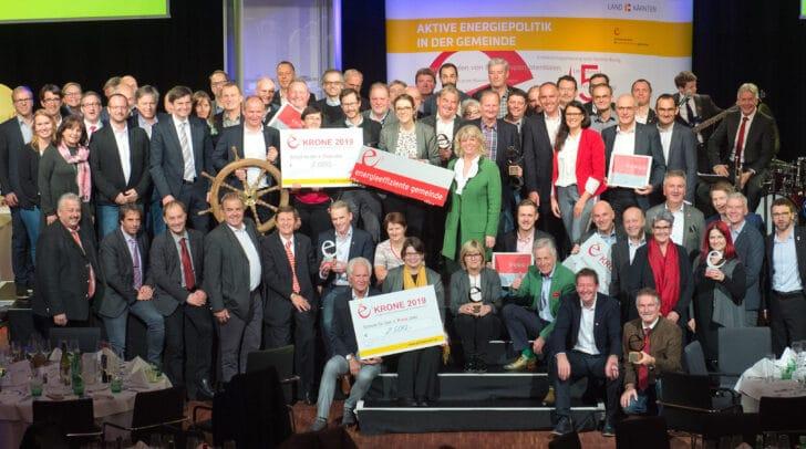 """Besonders innovative Aktionen und Projekte rund um den Klimaschutz können bei der """"e5-Krone"""" eingereicht werden, wie hier bei der letzten Preisverleihung 2019 in Velden."""