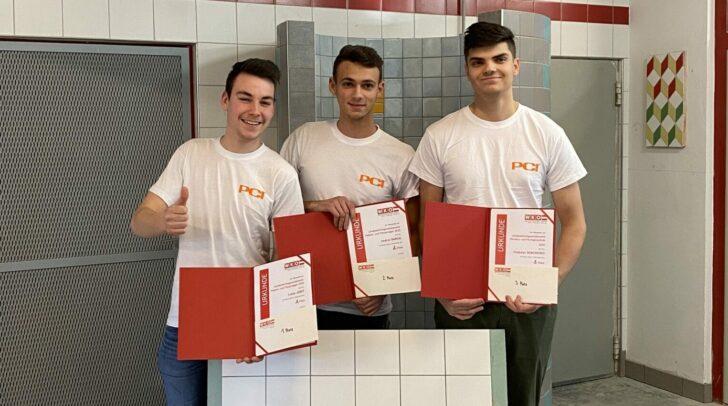 Die besten Drei: Lukas Jobst, Vedran Barisic und Vladyslav Demchenko