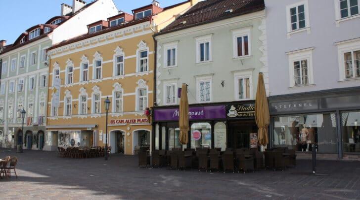 Das Modegeschäft Stefanel am Alten Platz in Klagenfurt schließt.
