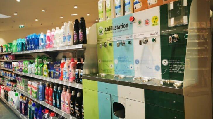 Bei Neukauf in Villacher steht nun auch eine Abfüllstation bei DM für euch bereit.