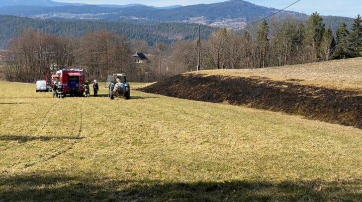 Auch ein Landwirt unterstützte die Kameraden bei den Löscharbeiten.