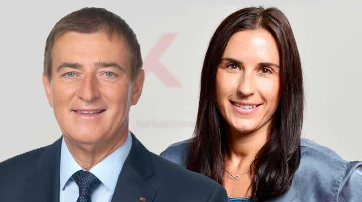 Präsident Günther Goach und Mag. Susanne Kisslinger, Leiterin der Abteilung Arbeits- und Sozialrecht geben Antworten
