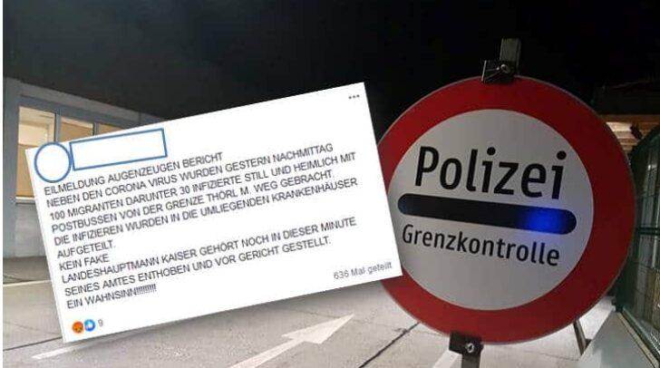 Der Beitrag eines Facebook-Nutzers wurde bereits über 630 Mal geteilt. Die Landespolizeidirektion Kärnten versichert jedoch, dass es sich dabei um Fake-News handelt.