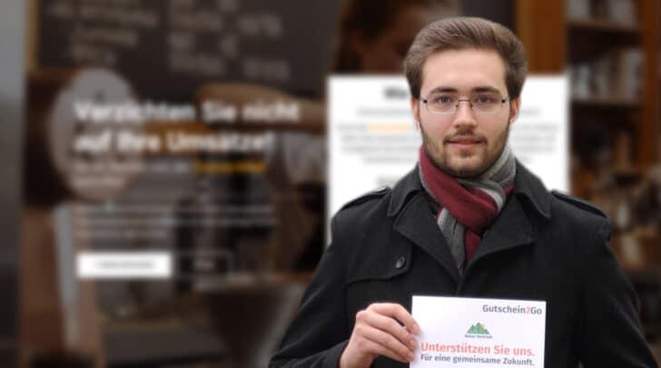 Der 21-jährige Christian Aichner ist gebürtiger Villacher und will mit der Plattform Gutschein2Go lokale Betriebe in der aktuellen Situation unterstützen.