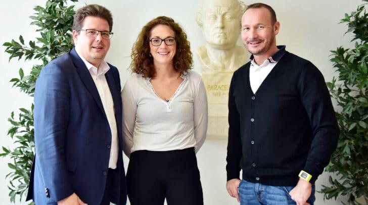 (v.l.n.r) Stadtrat Christian Pober, Dr.in Siegrun Nusser und Dr. Martin Herzeg.
