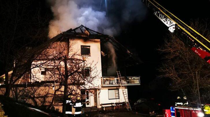 Das gesamte Obergeschoss wurde durch den Brand stark beschädigt.
