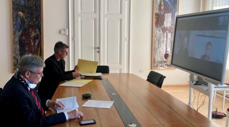LH Peter Kaiser und Landessportdirektor Arno Arthofer