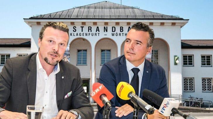 Der Klagenfurter Vizebürgermeister Wolfgang Germ und der Kärntner FPÖ-Chef Klubobmann Gernot Darmann üben scharfe Kritik an den Strandbad-Wiedereröffnungsplänen.