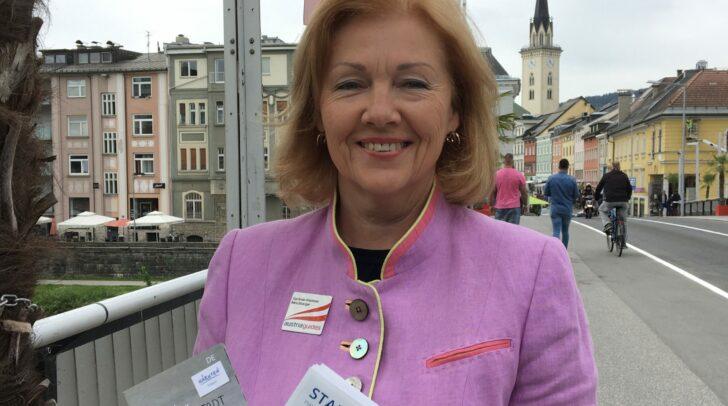 Stadtführerin Gerlinde Klammer-Minichberger freut sich auf den Neustart