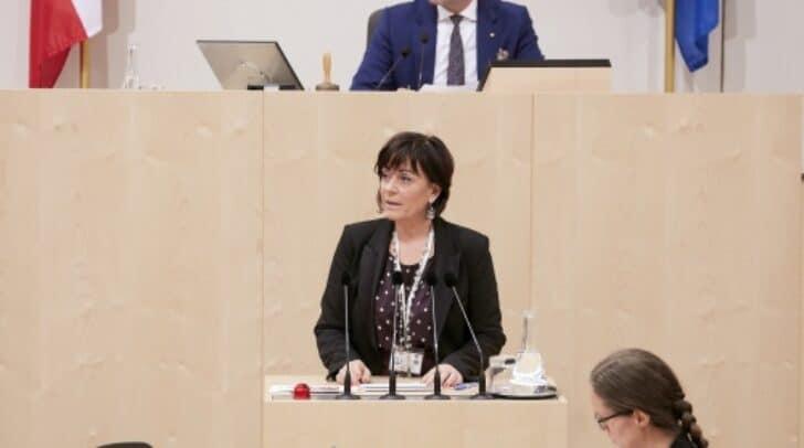 Am Rednerpult Nationalratsabgeordnete Petra Oberrauner (SPÖ)