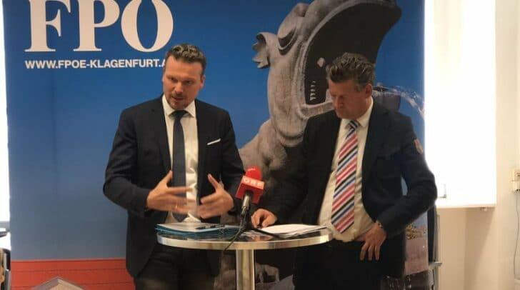 Im Bild: Vizebürgermeister Wolfgang Germ und Stadtrat Christian Scheider.
