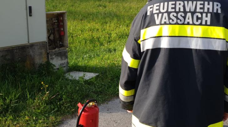 Die Kameraden wurden zu einem rauchenden Stromverteiler gerufen.