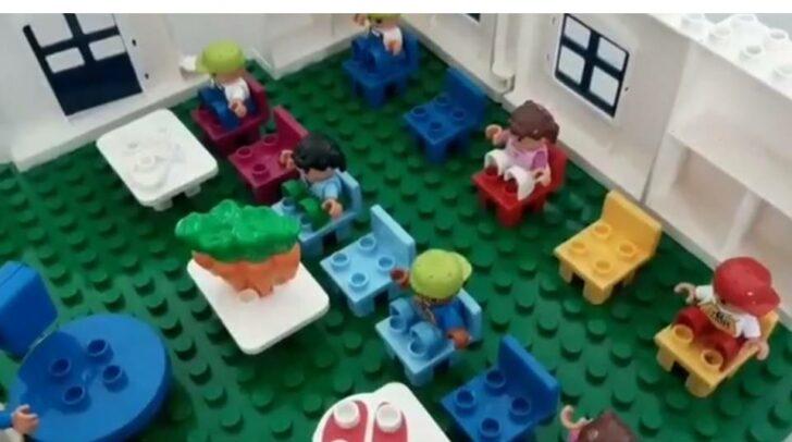 In dem selbstgedrehten Lernvideo der Schülerin werden die Hygienemaßnahmen im Schulalltag anschaulich und verständlich erklärt.
