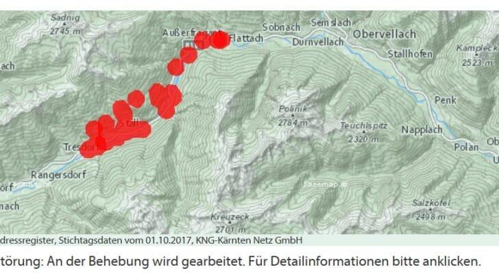 Auf der Karte ist ersichtlich, welche Regionen betroffen sind.