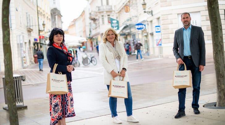Stadtmarketing-Chefin Inga Horny, Bgm. Maria-Luise Mathiaschitz und<br /></noscript>Stadtrat Markus Geiger (v.l.)