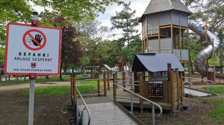 Der Spielplatz im Europapark wird erst ab 29. Mai wieder offen sein.