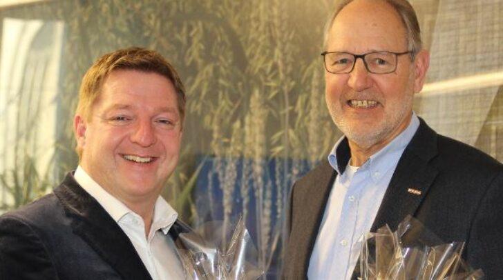 Bürgermeister Günther Albel und Wirtschaftskammerobmann Bernhard Plasounig