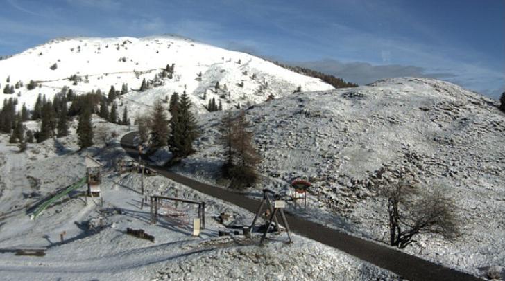 Die heutigen Aufnahmen der Gipfelhaus Webcam zeigen: Winterfeeling am Dobratsch