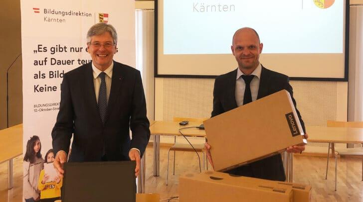Das Land Kärnten und die Bildungsdirektion haben eine Initiative für Notebooks gestartet.