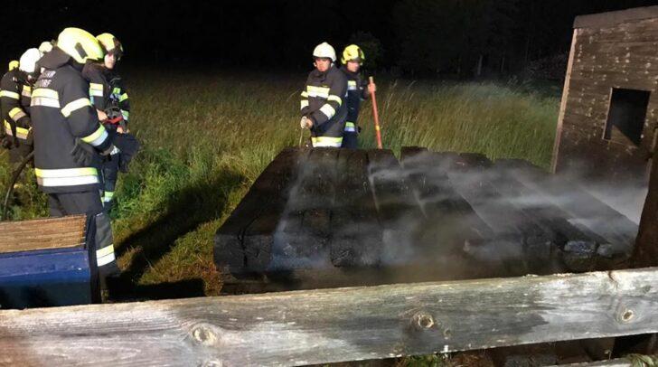 Nach rund einer Stunde konnte der Einsatz der FF Gödersdorf und der Feuerwehr Finkenstein beendet werden.
