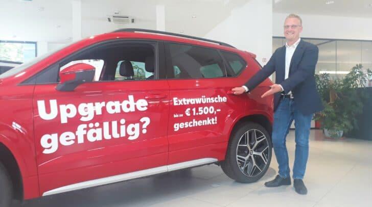 """Verkaufsleiter Michael Josef Muhrer: """"Upgrade-Bonus bei allen Seat-Modellen."""""""