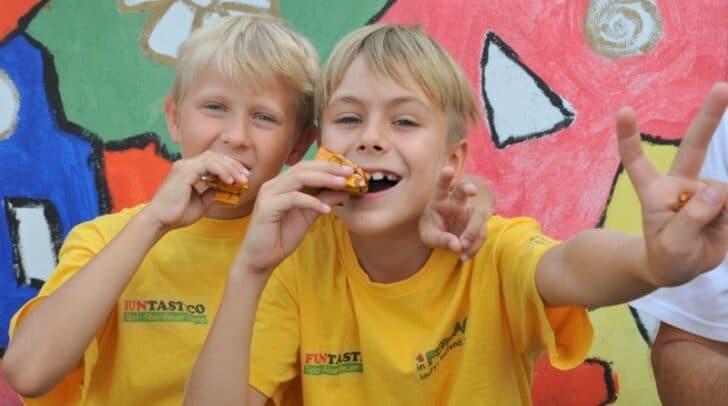Auch gesunde Ernährung wird im FUNTASTICO Sport-Abenteuer-Camp groß geschrieben.