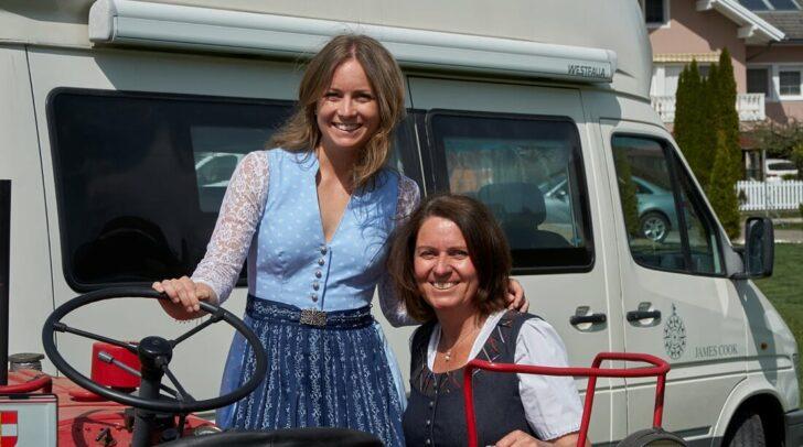 Anja und Dagmar (re.) Gfrerer - die engagierten Camperinnen begeistern mit dieser Idee.