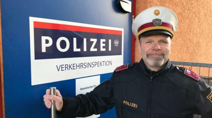 """Die Auszeichung zum """"Top-Cop 2019"""" hat Christian Eder ihn """"sehr überrascht""""."""