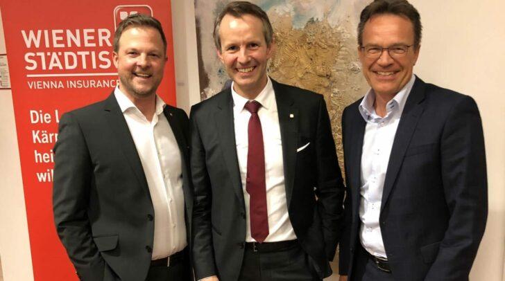Jörg Remschnig, LD Mag. Ferdinand Bucher, Georg Resenig MBA (v.l.n.r)