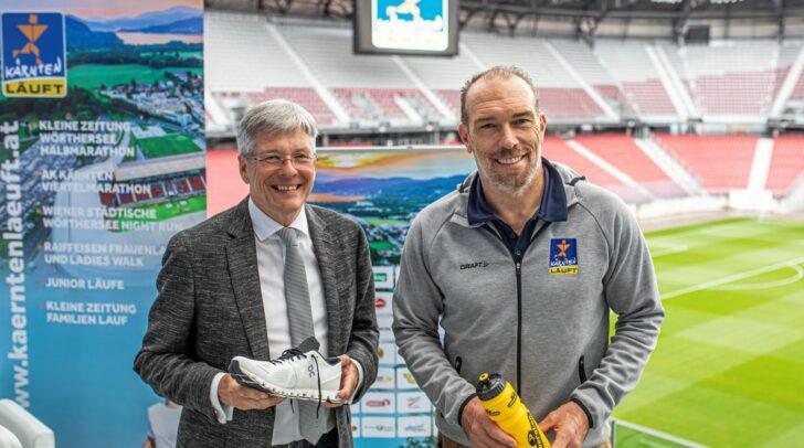 LH Peter Kaiser und Kärnten Läuft Veranstalter Michi Kummerer.