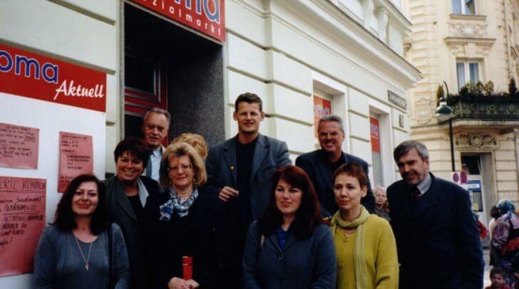 Seit 20 Jahren existiert SOMA in Klagenfurt. Das Bild mit Stadtrat Christian Scheider stammt aus dem Jahr 2000.