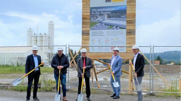Sto investiert 10 Millionen Euro in die Errichtung einer modernen, rund 3.000 Quadratmeter großen Produktionsanlage am Standort Villach.