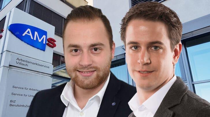Landesobmann der Freiheitlichen Jugend Roman Linder und der geschäftsführende Landesobmann Philipp Kulterer fordern ein