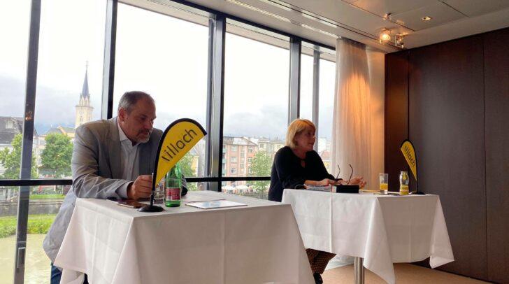 Kulturamtsleiter Christian Sturm und Kulturreferentin Gerda Sandriesser bei der Pressekonferenz.