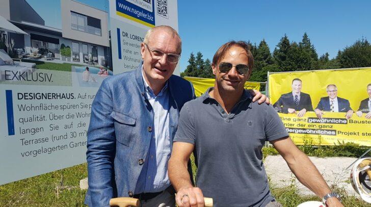 Eine tolle Partnerschaft: Baumeister Klaus Napokoj und Immobilien-Profi Adolf Nageler