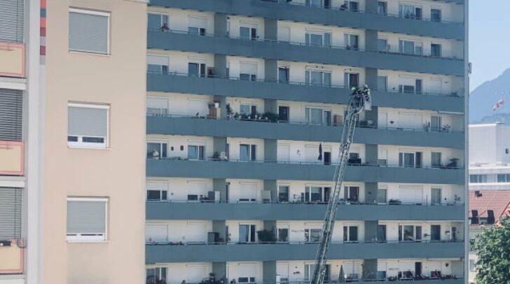 Der Einsatz war im 13. Stock eines Mehrparteienhauses.