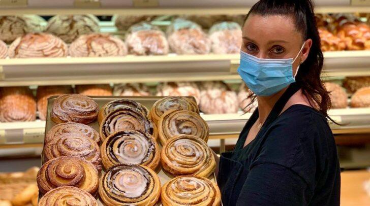 Seit Freitag gilt die Maskenpflicht wieder in vielen Bereichen Österreichs, so auch in der Bäckerei Berger.