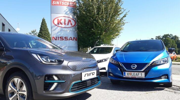 NISSAN oder KIA – das Autohaus Sintschnig hat ein breites Angebot an E-Autos.