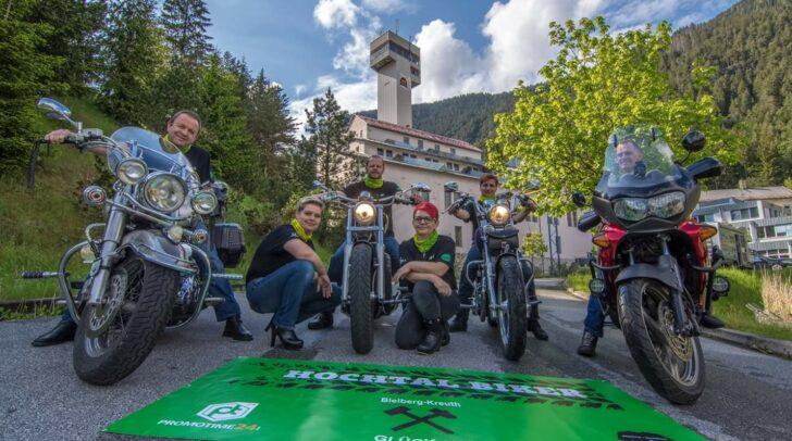 Die Hochtal-Biker v.l.: Urban Bernhard, Urban Sylvia, Domenig Wolfgang, Domenig Melanie, Altersberger Melanie und Altersberger Daniel.