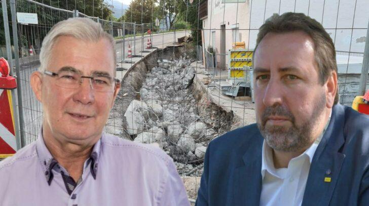Stadtrat Erwin Baumann (re.) wirft Stadtrat Harald Sobe (li.) vor, sorglos mit Steuergeldern umzugehen.