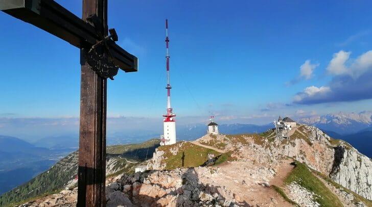 So sah das Gipfelkreuz Mitte Juni noch aus.