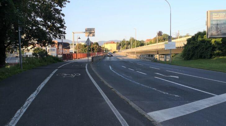 Der Geh- und Radweg auf der Alpen-Adria-Brücke ist während der gesamten Bauzeit gesperrt.
